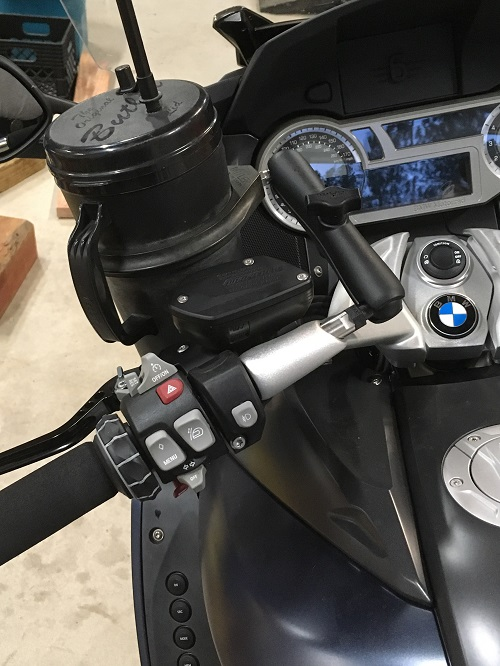 The Cup Holder Is Now Installed Bmw K1600 Forum Bmw