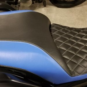 reshaped and re-covered K1600b seat, done in San Jose at ABC Upholstery