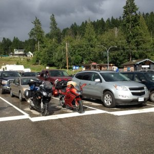 Waiting on the Ferry at Kootenay Lake in British Columbia