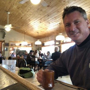 Breakfast after a COLD night in Black Canyon of the Gunnison National Park at Diamond Joe Cafe in Crawford, CO.